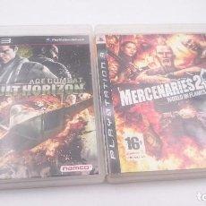 Videojuegos y Consolas: PACK 2:ACE COMBAT ASSAULT HORIZON Y MERCERNARIES 2 PLAYSTATION 3 PS3 PAL ESPAÑA ENVIOS COMBINADOS. Lote 82298404