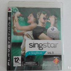 Videojuegos y Consolas: PS3 SINGSTAR VOLUMEN 3 USADO VER FOTO PARA VER CANCIONES. Lote 94926303