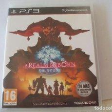 Videojuegos y Consolas: A REALM REBORN. FINAL FANTASY XIV ONLINE. VIDEOJUEGO PARA PS3. PLAYSTATION 3. Lote 99308207