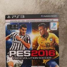 Videojuegos y Consolas: PRO EVOLUTION SOCCER 2016 DAY ONE PS3. Lote 97801959