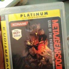 Videojuegos y Consolas: JUEGO DE PS3 PLATINUM METAL GEAR SOLID 4 . Lote 103879655