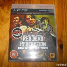 Videojuegos y Consolas: RED DEAD REDEMPTION PS3 JUEGO DEL AÑO - PAL CASTELLANO VERSION UK. Lote 104790279
