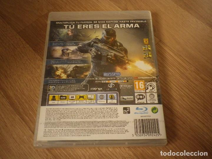 Videojuegos y Consolas: SONY PLAYSTATION 3 JUEGO CRYSIS 2 NUEVO PAL ESPAÑA - Foto 2 - 105858483