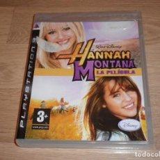 Videojuegos y Consolas: PLAYSTATION 3 PS3 JUEGO HANNAH MONTANA LA PELICULA NUEVO PAL ESPAÑA. Lote 109612995