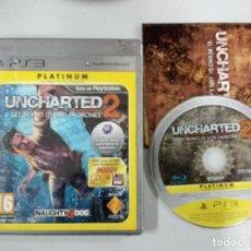 Videojuegos y Consolas: UNCHARTED 2 EL REINO DE LOS LADRONES - PS3 PLAYSTATION 3 PAL ESP. Lote 113157223