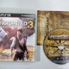 Videojuegos y Consolas: UNCHARTED 3 LA TRAICION DE DRAKE - PS3 PLAYSTATION 3 PAL ESP. Lote 113157359