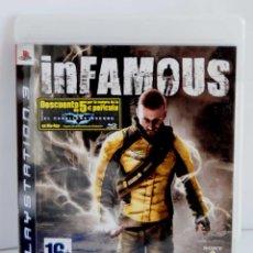 Videojuegos y Consolas: INFAMOUS DE PS3 COMPLETO CON INSTRUCCIONES PLAYSTATION 3 PLAY STATION IN FAMOUS. Lote 113174683