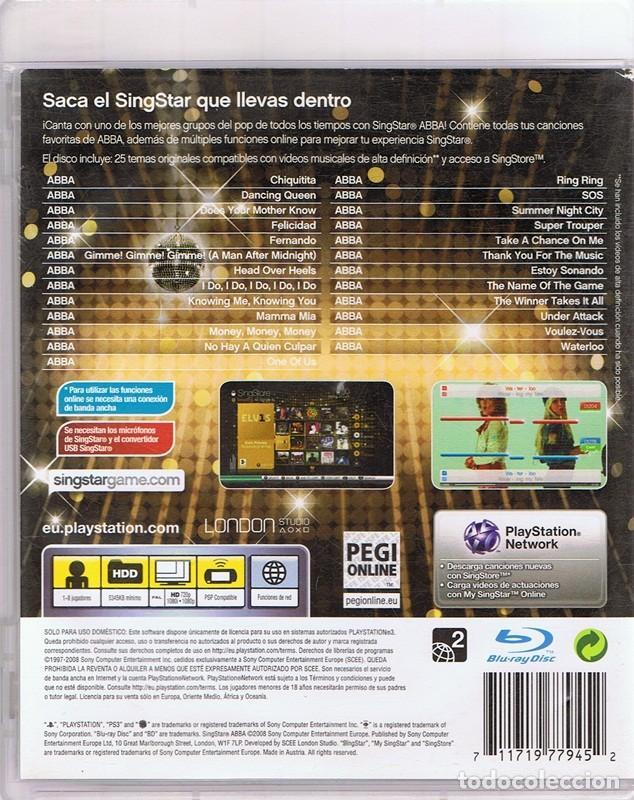 Videojuegos y Consolas: JUEGO PLAYSTATION 3 SINGSTAR ABBA - Foto 2 - 116095535