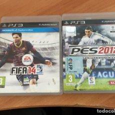 Videojuegos y Consolas: PES 2012 REVOLUTION SOCCER & FIFA 14 PLAYSTATION 3 PS3 (A). Lote 123830719