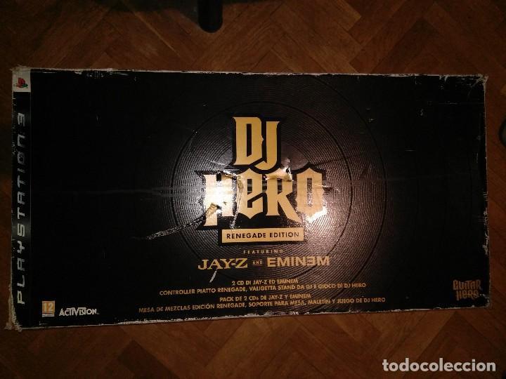 Videojuegos y Consolas: CAJA EDICION DE LUJO DJ HERO RENEGADE NUEVO PLAYSTATION 3 INCLUYE CD EMINEM Y JAY-Z rap hip hop - Foto 5 - 217952275