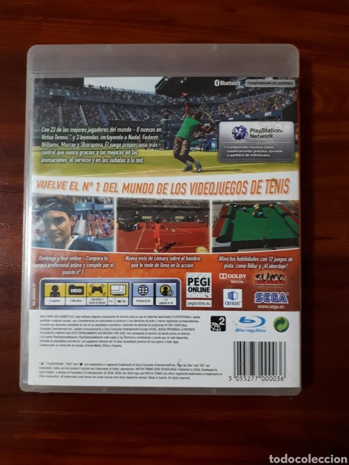 Videojuegos y Consolas: VIRTUA TENNIS 2009 - SONY PLAYSTATION 3 - PS3 - SEGA - TENIS - Foto 4 - 104977395