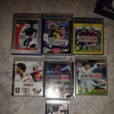 Videojuegos y Consolas: LOTE DE 7 JUEGOS DE FUTBOL ,PS2 ,PS3 ,PSP COMPLETOS EDICIÓN ESPAÑOLA. Lote 130808532