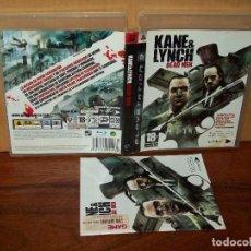 Videojuegos y Consolas: KANE 6 LYNCH DEAD MEN - PS3 CON MANUAL DE INSTRUCCIONES . Lote 135305418