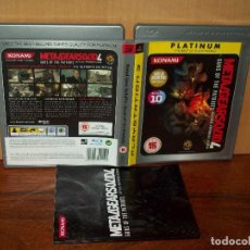 Videojuegos y Consolas: METAL GEAR SOLID 4 : GUNS OF THE PATRIOTS - PS3 PLATINUM EN INGLES. Lote 135306662