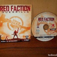 Videojuegos y Consolas: RED FACTION : GUERRILLA -PS3 SOLO JUEGO Y MANUAL DE INSTRUCCIONES . Lote 135311934