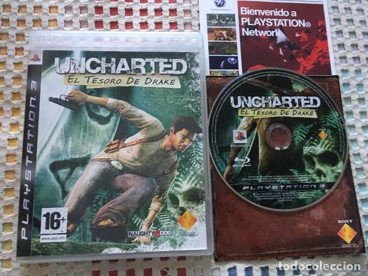 UNCHARTED 1 EL TESORO DE DRAKE PS3 PLAYSTATION 3 PLAY STATION KREATEN SONY (Juguetes - Videojuegos y Consolas - Sony - PS3)