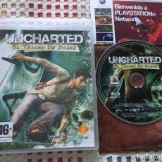 Videojuegos y Consolas: UNCHARTED 1 EL TESORO DE DRAKE PS3 PLAYSTATION 3 PLAY STATION KREATEN SONY. Lote 139585010