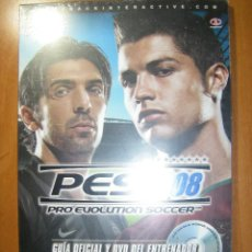 Videojuegos y Consolas: GUÍA OFICIAL PRO EVOLUTION SOCCER PES 2008 PLAYSTATION 2 3 Y XBOX + DVD DE ENTRENADOR. PRECINTADO. Lote 140317522