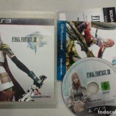 Videojuegos y Consolas: FINAL FANTASY XIII 13 - PS3 PLAYSTATION 3 PAL ESP. Lote 141897586
