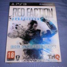 Videojuegos y Consolas: JUEGO PS3 RED FACTION ARMAGEDDON EDICIÓN COMANDO Y RECONOCIMIENTO - NUEVO - PAL ESPAÑA. Lote 145448054