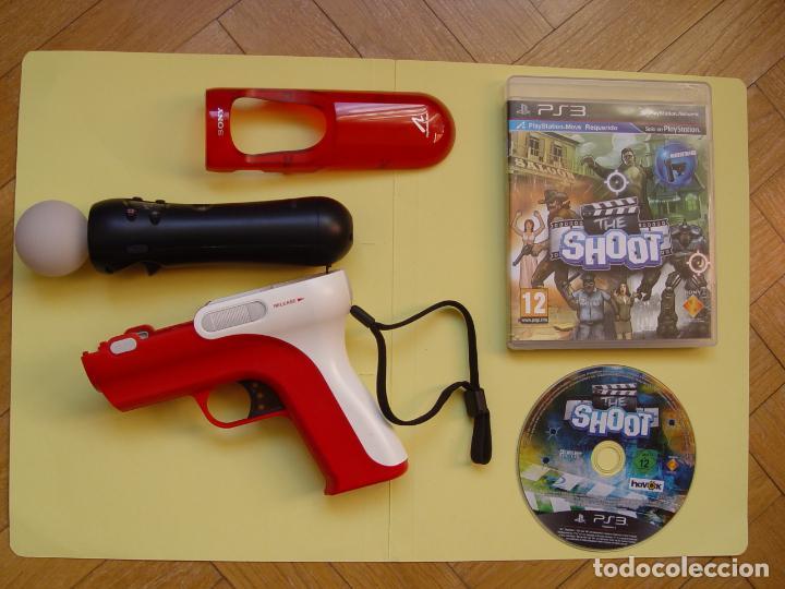 PISTOLA, MANDO MOVE Y JUEGO (THE SHOOT) PLAYSTATION 3 (2010) ¡ORIGINALES! (Juguetes - Videojuegos y Consolas - Sony - PS3)