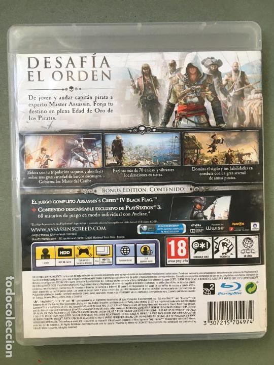 Videojuegos y Consolas: JUEGO ASSASSIN CREEDIV BLACK FLAG, EDICIÓN EXCLUSIVA PARA PS3, CON 60 MINUTOS DE JUEGO EXCLUSIVOS - Foto 4 - 147878406