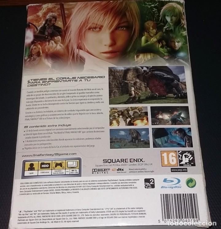 Videojuegos y Consolas: FINAL FANTASY XIII PS3, COMPLETO EDICION LIMITADA COLECCIONISTAS - Foto 2 - 149478590