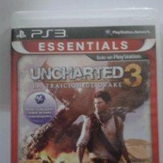 Videojuegos y Consolas: UNCHARTED 3: LA TRAICIÓN DE DRAKE. ESSENTIALS. PS3. Lote 151378282