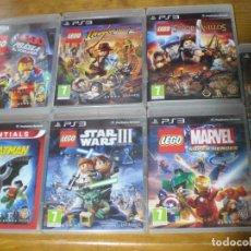 Videojuegos y Consolas: OFERTA! 9 JUEGOS PS3 LEGO STAR WARS LA PELICULA BATMAN MARVEL GREEN LANTERN. Lote 151812906