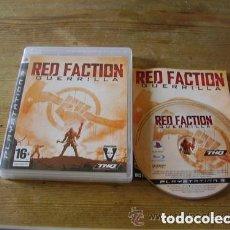 Videojuegos y Consolas: JUEGO PLAY 3 RED FACTION GUERRILLA. Lote 152376558