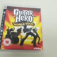Videojuegos y Consolas: J- GUITAR HERO WORLD TOUR PS3 VERSION EUROPEA CON INSTRUCCIONES COMO NUEVO. Lote 152462138