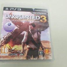 Videojuegos y Consolas: J- UNCHARTED 3 LA TRAICION DE DRAKE PS3 VERSION PAL ESPAÑA. Lote 152462758