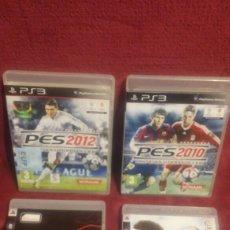 Videojuegos y Consolas: 4 JUEGOS PS3 PES 2010 2012 FIFA 09 Y F 1 CHAMPION EDITION. Lote 158465221