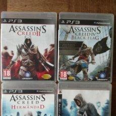 Videojuegos y Consolas: ASSASSIN'S CREED SAGA DE LOS 4 JUEGOS DE PLAYSTATION 3 PS3 - JUEGO PAL ESPAÑA. Lote 158509502