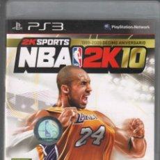 Videogiochi e Consoli: NBA 2K10 / PS3 / VDJ-11. Lote 159349634