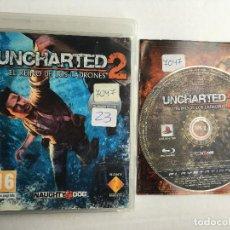 Videojogos e Consolas: UNCHARTED 2 EL REINO DE LOS LADRONES PS3 PLAY STATION 3 PLAYSTATION 3 KREATEN. Lote 160995030