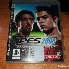 Videojuegos y Consolas: PES 2008 PLAYSTATIONS 3 JUEGO PS3 2008 ESPAÑA. Lote 165242386
