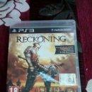 Videojuegos y Consolas: RECKONING PS3. Lote 165582126