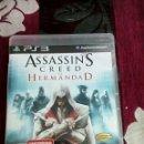 Videojuegos y Consolas: ASSASINS CREED LA HERMANDAD PS3. Lote 165582341