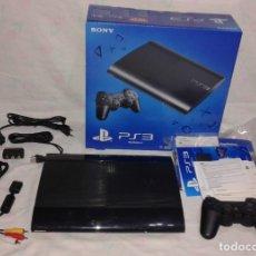 Videojuegos y Consolas: CONSOLA PS3 SLIM + MANDO + CABLES + MANUALES + EMBALAJES. Lote 167554048