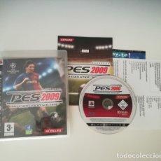 Videojuegos y Consolas: PES 2009 PRO EVOLUTION SOCCER. PLAYSTATION 3 PS3 FUTBOL KONAMI PAL. Lote 169728968
