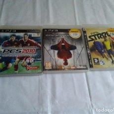 Videojuegos y Consolas: 9-LOTE TRES JUEGOS PS3-THE AMAZING SPIDERMAN, PES 2010,FIFA STREET3. Lote 171499377