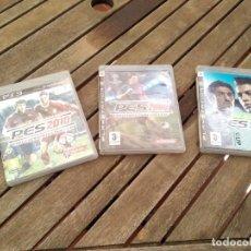 Videojuegos y Consolas: LOTE 3 JUEGOS PS3 FÚTBOL 2008.2009. 2010. FUNCIONAN BIEN. . Lote 171737299