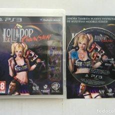 Jeux Vidéo et Consoles: LOLLIPOP CHAINSAW PS3 PLAY STATION 3 PLAYSTATION 3 KREATEN. Lote 172581248