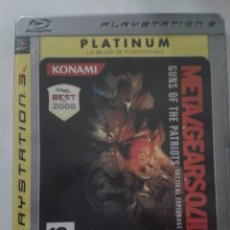 Videojuegos y Consolas: METAL GEAR SOLID 4: GUNS OF THE PATRIOTS - PLATINUM VERSION. PS3. Lote 174037433