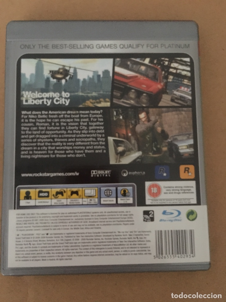 PS3 GTA 4 Platinum en inglés