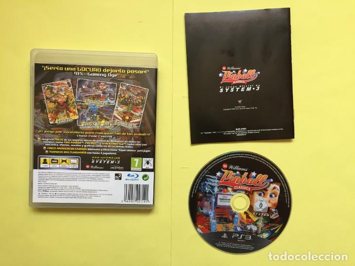 Videojuegos y Consolas: Juego PS3: WILLIAMS PINBALL CLASSICS (System.3, 2011) Original - Foto 2 - 174947508