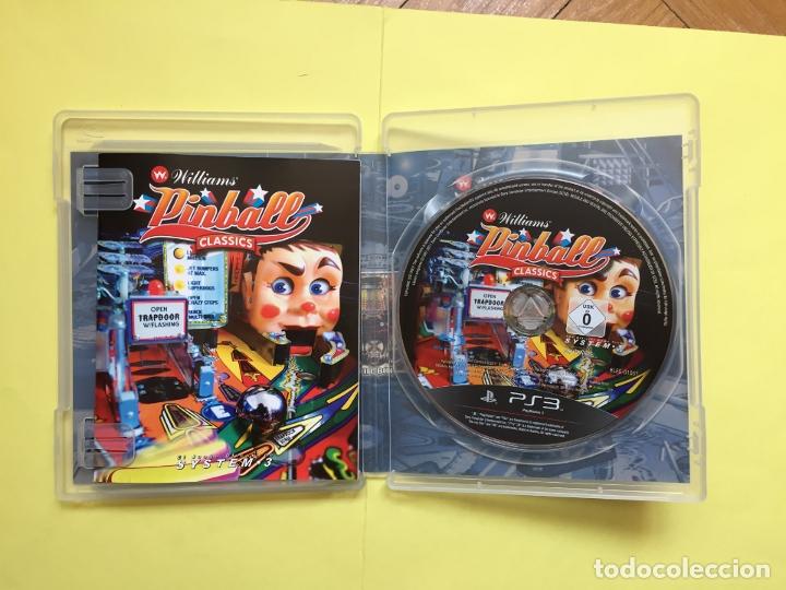 Videojuegos y Consolas: Juego PS3: WILLIAMS PINBALL CLASSICS (System.3, 2011) Original - Foto 3 - 174947508