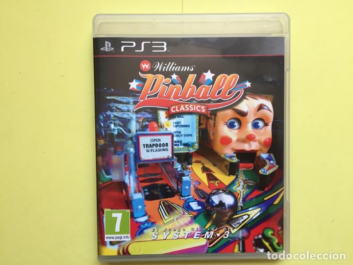 Videojuegos y Consolas: Juego PS3: WILLIAMS PINBALL CLASSICS (System.3, 2011) Original - Foto 4 - 174947508