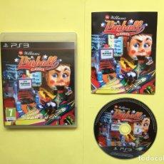 Videojuegos y Consolas: JUEGO PS3: WILLIAMS PINBALL CLASSICS (SYSTEM.3, 2011) ORIGINAL. Lote 174947508